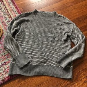 Caslon gray lock neck sweater